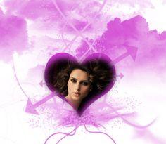 Montaje Corazón Flechado para personalizar tú mismo Gratis.