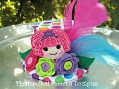 Lalaloopsy Inspired Mini Top Hat Birthday Hat Photo Prop