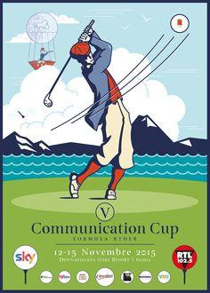 V Communication Cup poster on Behance