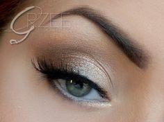Subtle, soft, and shimmery. Wedding makeup