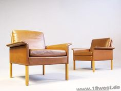 A pair of easy chairs by Hans Olsen.