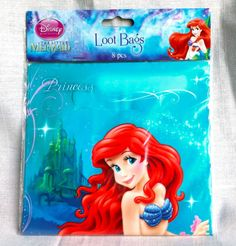 Disney-Little-Mermaid-Loot-Bags-Ariel-Birthday-Party-Favor-Treat-New-8-Pieces