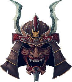 Demon samurai helmet