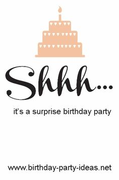 7 Steps to Throw a Surprise Birthday Party - Birthday Party Ideas