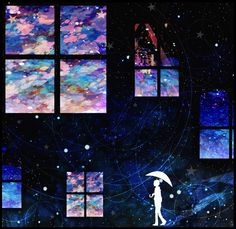 Find images and videos about wallpaper, خلفياتً and anime kawaii on We Heart It - the app to get lost in what you love. Anime Galaxy, Matte Painting, Anime Scenery, Art Graphique, Anime Artwork, Storyboard, Manga Art, Pretty Pictures, Cool Drawings