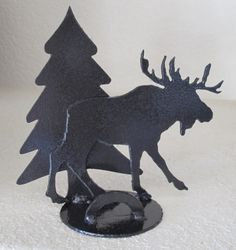 23 best moose business card holder images on pinterest business cool moose with tree metal business card holder by smiledogartwork colourmoves