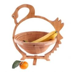 Cosulet din bambus pentru fructe si legume in forma de lebada