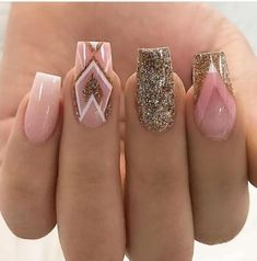 Glitter nail art designs have become a constant favorite. Have your found your favorite Glitter Nail Art Design ? Beautybigbang offer Glitter Nail Art Designs 2018 collections for you ! Acrylic Nail Designs, Nail Art Designs, Acrylic Nails, Design Art, Coffin Nails, Blue Nails, White Nails, Orange Nails, Wedding Nails Design