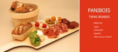 Reusable, dishwasher safe, wooden tapas boards from Panibois.