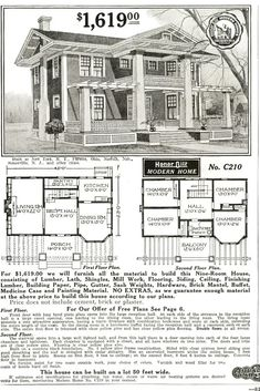 Sears Milton as seen in the 1916 Modern Homes catalog.