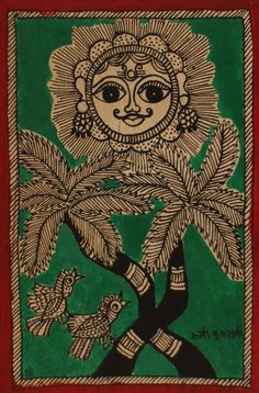 Madhubani Art Gallery has collection of different form of Folk Arts of Mithila. Sikki Work, Paintings, Prints and Cards. Madhubani Art, Madhubani Painting, Painting For Kids, Children Painting, Painting Art, Indian Folk Art, New Delhi, Indian Paintings, Caligraphy