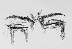 Sad Drawings, Dark Art Drawings, Art Drawings Sketches Simple, Pencil Art Drawings, Tattoo Drawings, Arte Sketchbook, Sad Art, Hippie Art, Aesthetic Art