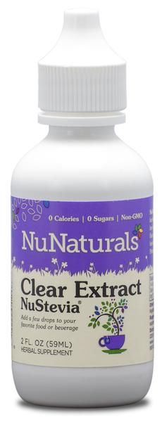 Clear NuStevia® 2 oz liquid - NuNaturals Clear NuStevia Liquid Stevia Extract is perfect for your beverages, foods, baking and  any recipe that calls for Stevia. This liquid is so concentrated that you only need 5-10 drop.
