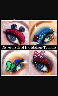 Goofy and donald makeup