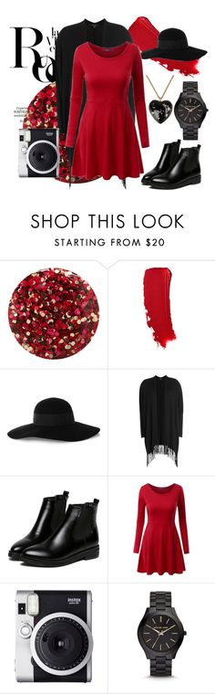 """""""Springtime Red Dress"""" by reemarie on Polyvore featuring Whiteley, Nails Inc., Chanel, Eugenia Kim, Ella Moss, WithChic, Doublju, Fuji, Michael Kors and Moschino"""