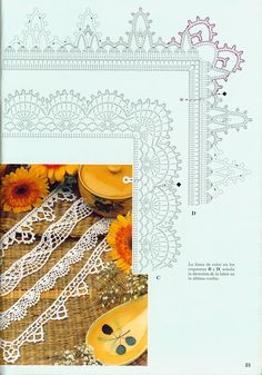 Crochet Knitting Handicraft: Samples and Special Reasons Lace 18 Crochet Boarders, Crochet Lace Edging, Crochet Headband Pattern, Crochet Chart, Thread Crochet, Filet Crochet, Irish Crochet, Crochet Doilies, Crochet Stitches