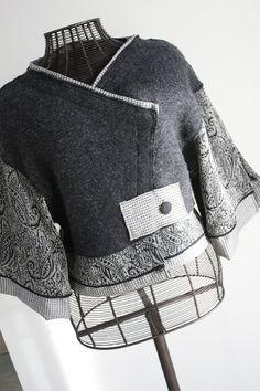 Womens Clothing Unique Jacket Upcycled by MargoSueStudio on Etsy