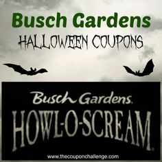 Busch Gardens Halloween Coupons {Howl-o-Scream at Busch Gardens}