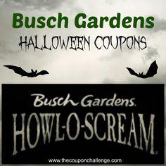 Busch Gardens Halloween Coupons {Howl-o-Scream at Busch Gardens}