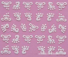 3D Nail Art Stickers Decal Beauty Sweet Cute White Butterfly Spots Design Decorative French Manicure Foils Stamping Tools