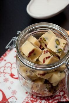 White Chocolate Fudge, Cherries and Pistachio - In the Food for Love Fudge Recipes, Raw Food Recipes, Nigella Lawson Christmas, Chef Nigella Lawson, Just Desserts, Delicious Desserts, Winter Treats, Yummy Eats, How Sweet Eats
