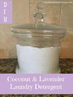 coconut & lavender laundry