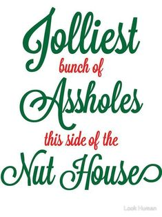 -The Best Funny Christmas Quotes And Memes To Brighten Any Grinch's Holiday Jolliest bunch of assholes this side of the nuthouse. Griswold Christmas, Christmas Svg, Christmas Movies, Christmas Humor, Family Christmas, Christmas Holidays, Christmas Ideas, Funny Holidays, Holiday Movies