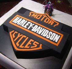 Harley Davidson birthday cake www.hausofcake.com