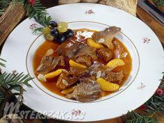 Szarvasragu nagyvadász módra recept Pot Roast, Hunters, Soups And Stews, Dishes, Drink, Ethnic Recipes, Kitchen, Food, Carne Asada