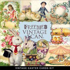 Far Far Hill-Freebies Vintage Easter Illustrations