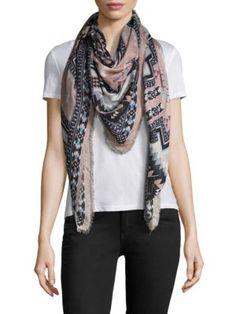 ROBERTO CAVALLI Geometric Scarf. #robertocavalli #scarf