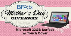 Black Friday Ads is giving away a Microsoft Tablet to one lucky mother on mothers day. Don't miss your chance to win!