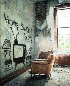 Home Sweet Home...... #streetart #graffiti #art #urban #urbanart #museum #artsy #artistic #mural #arts #wallporn #photooftheday #contemporaryart #picoftheday #instadaily #artwork #arte #artist #spraypaint #publicart #outdoorart #tmoua #graffitiporn #artlife #derelict #abandoned #abandonedplaces