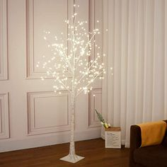 Amazon.com: Vanthylit 6FT 288LT White Birch Tree with Fairy Lights Warm White LED Tree for Indoor and Outdoor: Home & Kitchen Birch Tree Decor, White Birch Trees, Fairy Lights In Trees, Led Tree, Copper Decor, Tree Lighting, Home Decor Inspiration, Decor Ideas, Inspired Homes