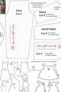 Bodice Pattern-Overalls free pattern for doll overalls