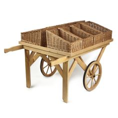Retail Display Stands | Wood & Wicker Display Stands.  Flat Top Wooden Display Cart - http://www.heartbeatuk.com/flat-top-display-cart/product/584