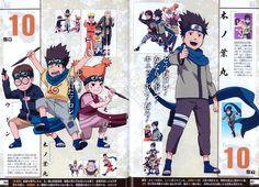 Tags: NARUTO, Uzumaki Naruto, Tsunade, Jinchuuriki, Official Art, Sarutobi Konohamaru, Moegi, Udon