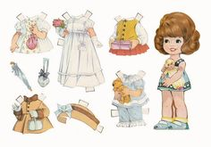 Pretty Brown Hair, Vintage Paper Dolls, Doll Head, Princess Zelda, Disney Princess, Cover Pages, Paper Clip, Little Girls, Disney Characters