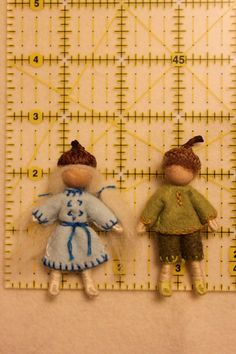 acorn children boy girl bendy doll natural by WoolseyPlace, $15.00