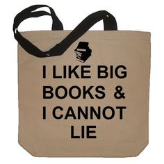 I Like Big Books And I Cannot Lie Funny Cotton Canvas Tote Bag - Eco... ($15) ❤ liked on Polyvore