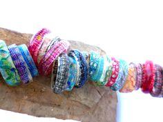 Lace Bracelet, Thread Art, Bobbin Lace, Bangles, Bracelets, Boho Fashion, Fiber, Jewellery, Wood