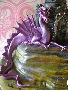 Lovely purple clay dragon