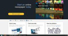 Paper.li 'start your newspaper' page