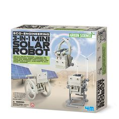 3-in-1 Mini Solar Robot - 4m