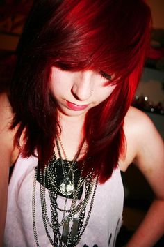 Bright red hair - colours like this are great, but can be hard to remove later...