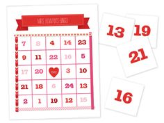 Free Valentine's Day printable for Classrooms!  Valentine Bingo by Smilebox.  Customize sweet Valentine bingo cards for your fun-loving class or party. Print our numbered markers, or use candy hearts. Choose your color scheme and photo option. Just print, cut and play