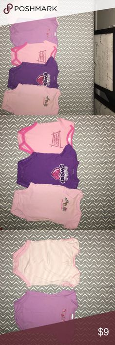 Bundle of five girls summer onesies size 3-6 mos Bundle of five girls summer onesies size 3-6 mos in great condition. No stains, rips or tears. One Pieces Bodysuits