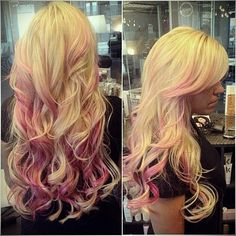 Ideen Blondes Haar mit rosa highlights - http://frisuren.king2club.com/2017/ideen-blondes-haar-mit-rosa-highlights.html