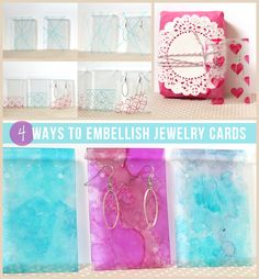 Will have to do this for gifts at Christmastime: 4 Ways to Embellish Jewelry Cards For Handmade Gifts, via Crafts Unleashed.