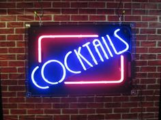 cocktails neon sample